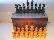 Vintage Weighted Staunton Style chess set de grands morceaux 4.5 in (environ 11.43 cm) King Boîte en bois