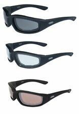 3 Motorcycle Padded Riding Glasses Sunglasses Clear Smoked Golf Social Distance