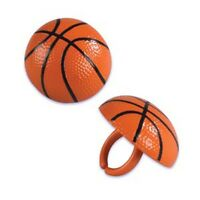 12 - 3D Basketball Rings Cupcake Toppers Cake Decorations Party Favors