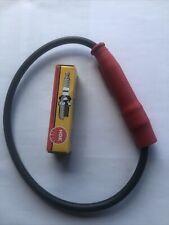 Zündkerzenstecker mit schwarzen Kabel  incl. Zündkerze MZ 125 SM SX RT Neu