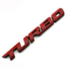 Placchetta metallo 3D emblema adesivo TURBO auto car Styling Tuning badge ROSSO