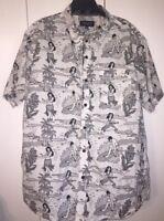 Eighty Eight Platinum Hawaiian Hula Girl Shirt, Men's XXL Read Description