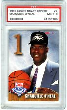 SHAQUILLE O'NEAL~RARE 1992 HOOPS DRAFT REDEMPTION PSA-9 MINT SP ROOKIE RC CARD#A