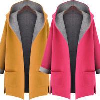 Winter Women's Woolen Windbreaker Slim Trench Jacket Thick Parka Coat Outwear