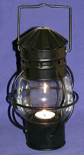 "New Black Metal Decorative Nautical Style Tea Light Candle Lantern~4"" X 10"""