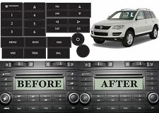 Replacement Radio Button Stickers For 2004-2009 Volkswagen Touareg New Free Ship