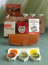 Vintage Polaroid Kits Lenses 540, Filters 541, Exposure Meter 620, Leather Cases