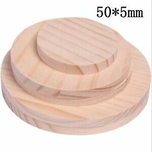 20 PCS Round Wooden Plate Model for Pine Wood Sheet Woodworking Handwork 50x5mm