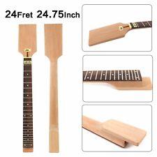"Mahogany Guitar Neck 24Fret 24.75"" inch Fit Diy Electric Guitar Neck"
