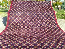 Antique Armenian Star Patterned 4'7''x9 39;8'' Natural Dyes Wool Pile Area Rug