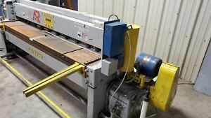 """12 Gauge x 8' Wysong 1296 Shear - 24"""" Squaring Arms Included"""