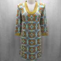 J Mclaughlin Blue Long Sleeve Dress Small