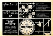"F31 NEWSPAPER ADVERT 7X11"" FISCHER-Z : WORD SALAD ALBUM & TOUR DATES"
