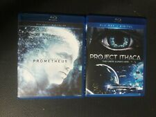Prometheus (Blu Ray) & Project Ithaca (Blu Ray) Like New, Free Shipping!