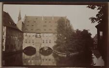Pegnitz River. Nuremberg. Building from Fleisch Bridge c.1913 (Jd.157)