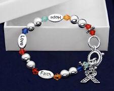 Autism Awareness Hope-Faith-Love Bracelet