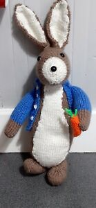 Hand Knitted Bunny in the Style of Peter Rabbit