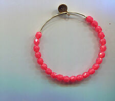 rose glass bead bracelet Alex & Ani gold