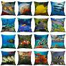 """18""""Retro Sea Animal Cotton Linen Pillow Case Sofa Cushion Cover Throw Home Decor"""