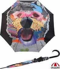 Doppler Regenschirm Damen Stockschirm groß strabil Automatik Art Patchdog