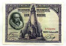 Spain-Billete. Cervantes. 100 Pesetas. 1928. Sin serie. SC-/UNC-. Escaso