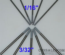 "10 pcs WC20 1.6x150mm 1/16"" 2.4x150mm 3/32"" Ceriated Tungsten Electrode Grey"