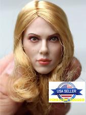 1/6 Scarlett Johansson Black Widow Head Sculpt For Phicen Hot Toys Figure USA
