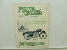 January 1953 MOTORCYCLING Magazine Matchless Clubman Model G9 L9857