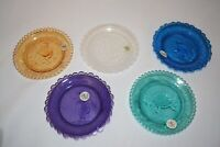 Vintage Pairpoint Glass Co. Cup Plate Set of 5 Animal Plates Thornton Burgess