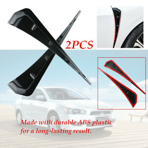 A Pair ABS plastic Car Leaf Plate Simulation Outlet Vent Side Air Flow Sticker
