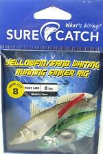 SureCatch 691ywr82 Yellowfin Sand Whiting Running Sinker Rig Size 8 8lb Trace