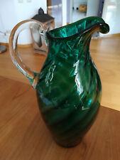 Schöne dekorative Glasvase grün 29 cm