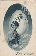 ITALY BUONA PASQUA HAPPY EASTER SPIDER POSTCARD