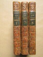 LA CHAPPELLE : LES AMOURS DE TIBULLE, 1715. 3 volumes in-12, 9 gravures.