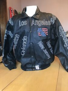VINTAGE 1994 USA WORLD CUP SOCCER LEATHER JACKET XL Montana Toons
