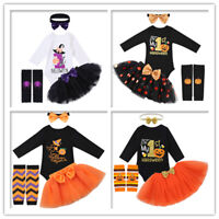 Infant Baby Girls Halloween Birthday Romper Outfits Sets Kids Party Costume Sets