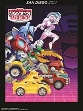 SDCC 2014 Exclusive Angry Birds Transformers Autobirds Framed Poster!!