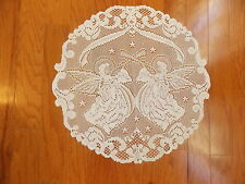 HERITAGE LACE WHITE ANGELS 20 INCH DIAMETER DOILY ITEM 6079