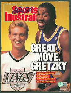 Lakers Magic Johnson Signed August 1988 Sports Illustrated Magazine BAS #WP80023