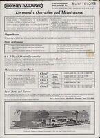 Hornby Railways. Locomotive Operation & Maintenance. Ro971603  1978 (ZP.41)