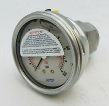 WIKA SS31600 Glycerin Pressure Gauge 0-100PSI 6.9bar 52730399 Industrial NOS