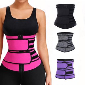 Women Sauna Waist Trainer Sweat Belt Tummy Control Yoga Slimming Body Shaper