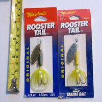 Worden/'s       Original     Rooster Tail   UV     RT206   Tinsel  Rainbow Tiger