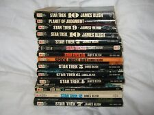 Lot of 14 Vintage Star Trek (Kirk, Spock, McCoy) Paperback Books by James Blish