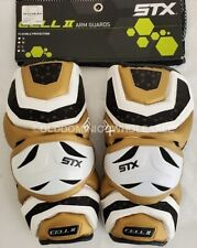 New Stx Cell 2 Adult Large White/Gold/Black Lacrosse Arm Guards