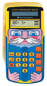 Texas Instruments Little Professor Solar Mathe Lernspielzeug NEU OVP Grundschule