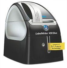 Dymo Label writer 450 Duo etiquetas impresora individuales impresión de etiquetas Thermo-direktdru