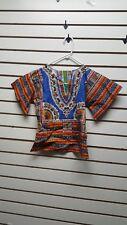 Childrens African Clothing Size 2 Dashiki Shirt/kids/C-2004-28/Boys and Girls