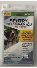 Sentry Fiproguard Plus Flea & Tick Squeeze-On Medium 23-44lb Dog Treatment 6 Ct