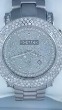 Don & Co 5.5 Ct Diamond & Stainless Steel Men's Watch